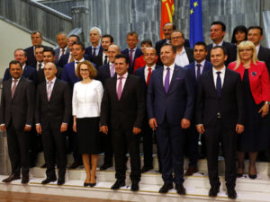 Macedonia's newly formed government after the 2-year crisis.