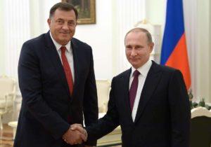Republika Srpska President Milorad Dodik and Russia's leader Vladimir Putin